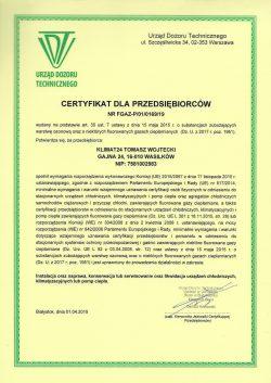 Klimat24 Tomasz Wojtecki certyfikat UDT